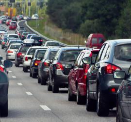 commuters stuck in traffic